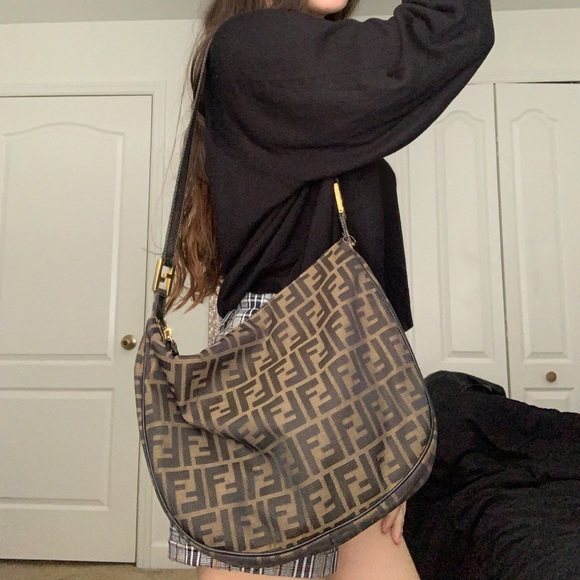 Fendi Handbags - Fendi Brown Zucca Tobacco Print Shoulder Bag